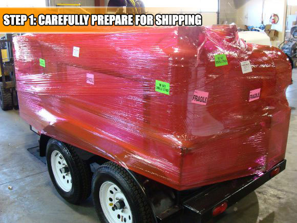Your Trailer Power Washer will be shrink wrapped to assure no damage in transit.