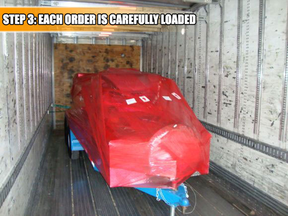 Your Trailer Power Washer will be loaded on a truck specifically bound for your location.